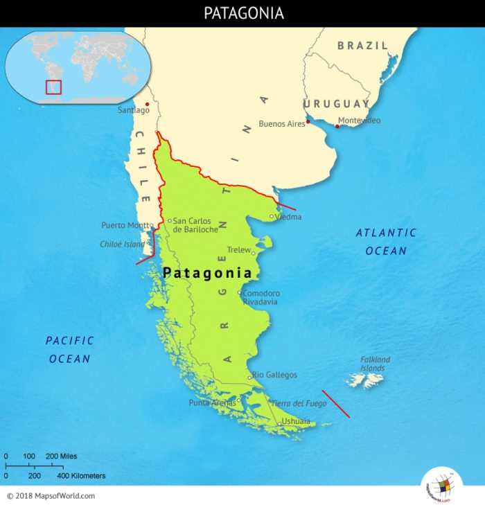 map of patagonia chile Travel Patagonia Argentina And Chile Thetravellingisraeli Com map of patagonia chile